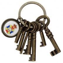 Llavero de llaves en 3D metálico
