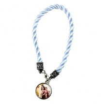 Pulsera de la virgen color azul