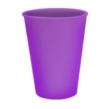 Vaso de plástico lila