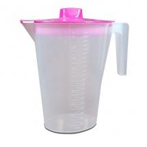 Jarra de plástico con tapa para el agua