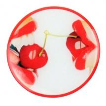 Etiqueta de resina cerezas