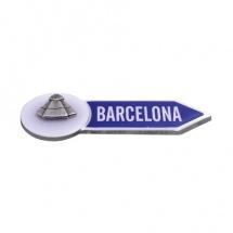 Imán souvenir resina flecha Barcelona manto