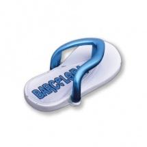 Imán souvenir metálico chancla azul