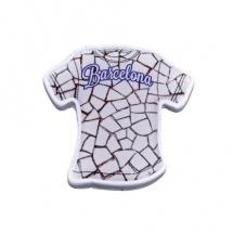 Imán souvenir resina camiseta ciudad blanca