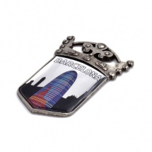 Imán souvenir escudo etiqueta resina