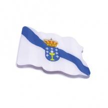 Imán souvenir resina forma bandera