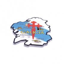 Imán souvenir resina forma mapa Galicia