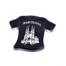 Imán souvenir resina camiseta transparente FSIMCAMT