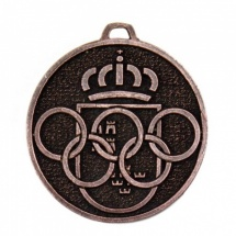 Medalla metálica redonda color cobre
