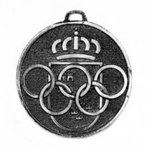 Medalla metálica redonda color plata