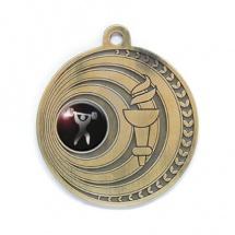 Medalla metálica redonda color oro