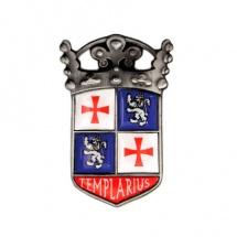 Medalla metálica Templarius plata
