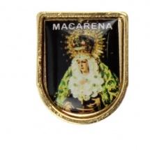 Pin metálico religioso de la Virgen