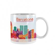 Taza souvenir vista ciudad Barcelona