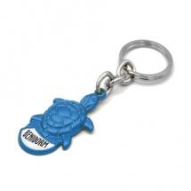Llavero souvenir tortuga 3d azul