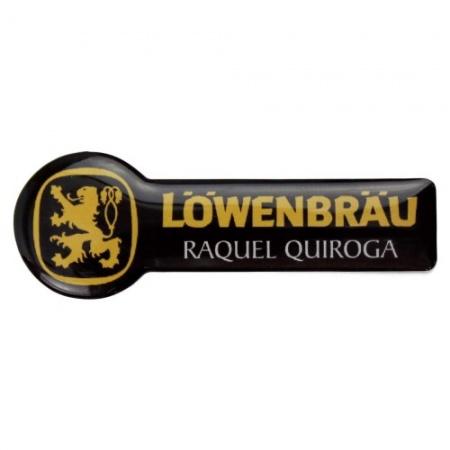 Identificador personalizado Lowenbrau con resina