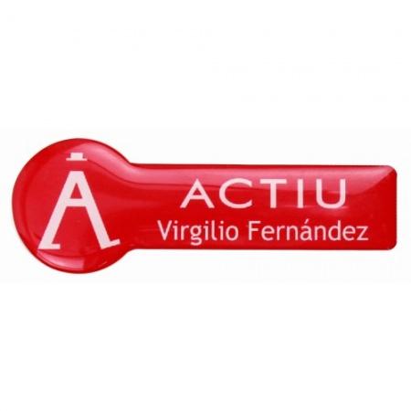 Identificador personalizado Actiu con resina