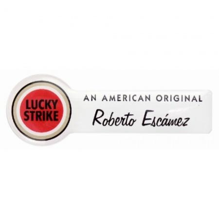 Identificador personalizado Lucky Strike con resina
