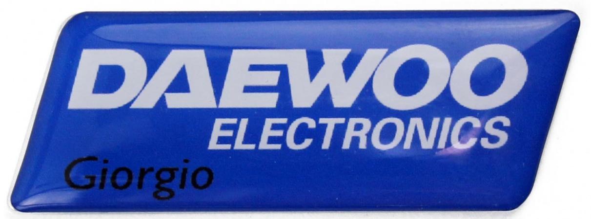 Identificador personalizado con etiqueta de resina
