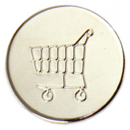 Llaveros para carritos con moneda