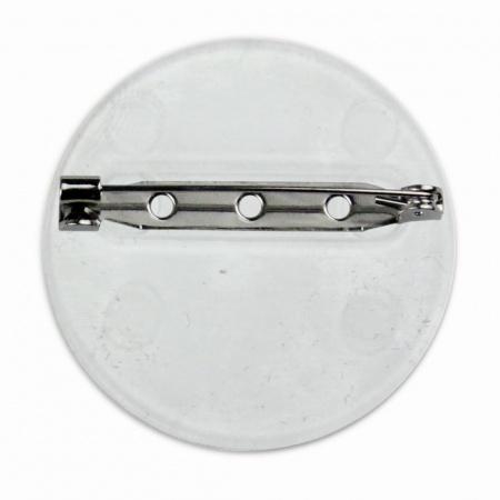 Chapa redonda personalizada con resina parte trasera